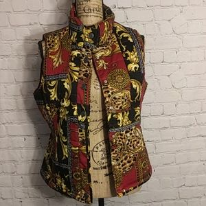 Bandolino Women's Red Quilted Puffer Vest - Size S